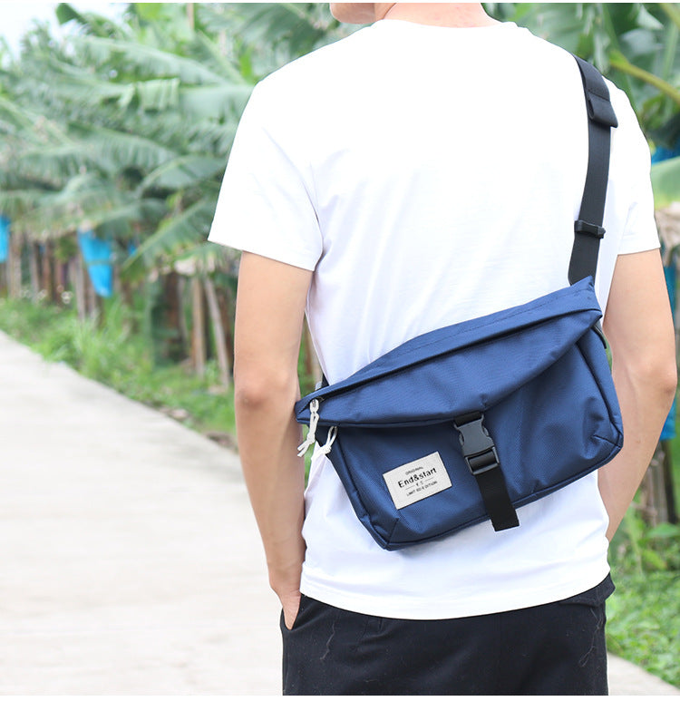 End and Start men's shoulder bag messenger bag men's casual Oxford cloth student messenger bag-End & Start-1stAvenue