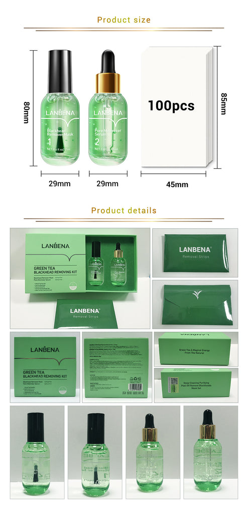 LANBENA Black Head Green Tea Removal Set-Blackhead-1stAvenue