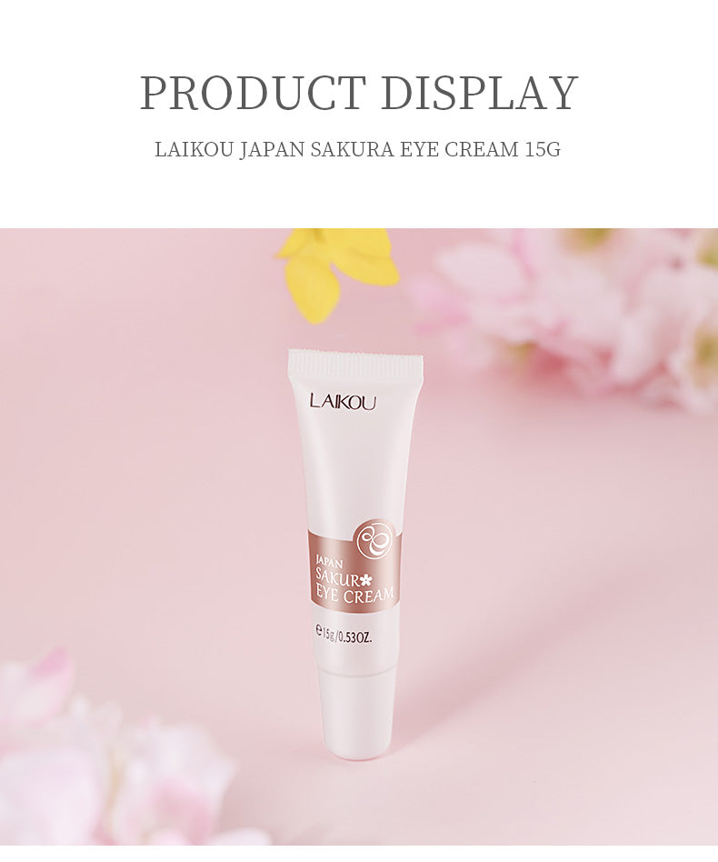 LAIKOU Sakura Eye Cream Anti-Aging Wrinkles Hydrate Dry Skin Serum Remover Dark Circles Eye Care Against Puffiness and Bags-Laikou-1stAvenue