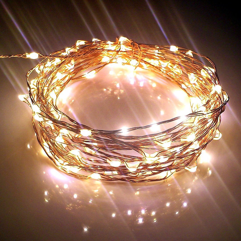 30m Copper Plug Warmwhite LED string lights Christmas fairy lights wedding decorations-Fairy Lights-1stAvenue