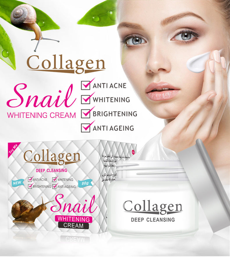 Snail Whitening Cream Collagen-Beauty Product-1stAvenue