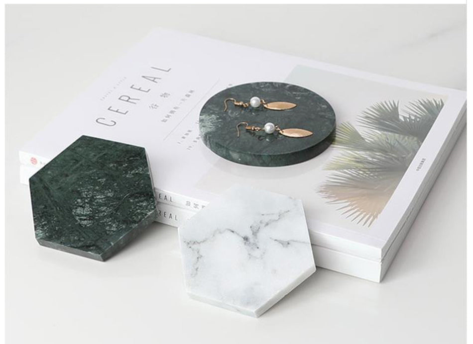Nordic Style Natural Marble Coaster decoration-Marble Collection-1stAvenue