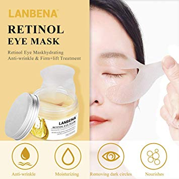 Lanbena Retinol Eye Mask Eye Patch Reduces Circles Anti Age Lifting Firming Serum Eye Swelling Skin-Skin care-1stAvenue