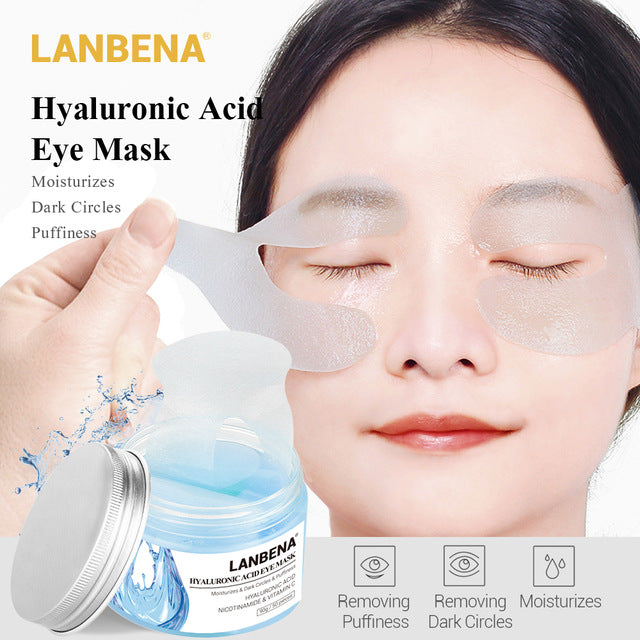 Lanbena Hyaluronic Acid Eye Mask Eye Patch Eye Care Reduces Dark Circles Bags Eye Lines Ageless Lifting Firming Skin Care - 1stavenue