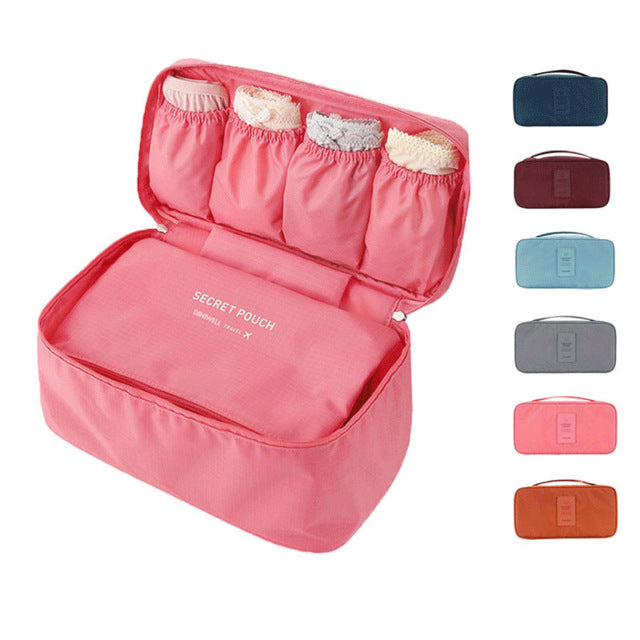 Travel Organizer Cosmetic Bag Portable Luggage Storage Case Bra Underwear Pouch-Travel Organizer-1stAvenue