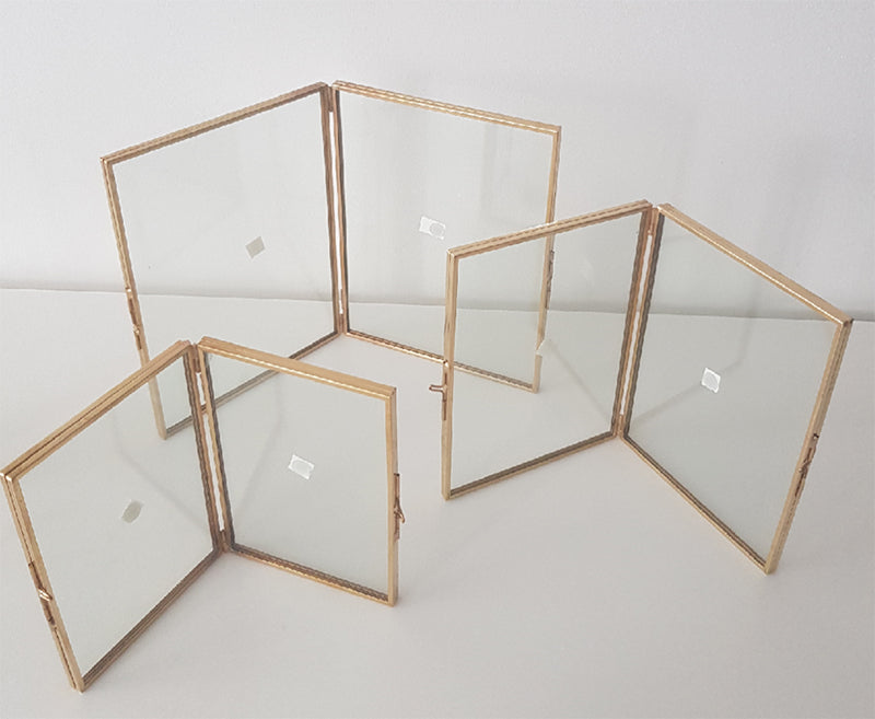 Geometric Photoframe (Double Frame)-Geometric Terrarium-1stAvenue