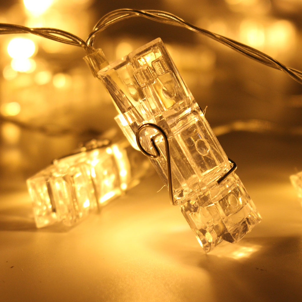 LED String lights Photo Clip Holder Home Decoration Fairy lights Battery-Fairy Lights-1stAvenue