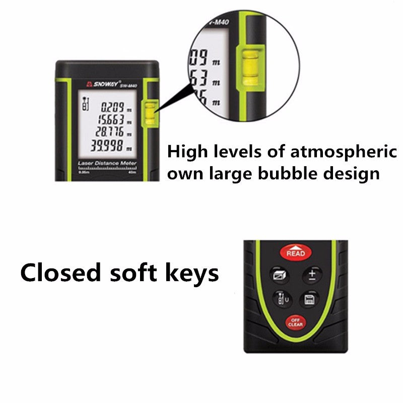 SNDWAY SW-M40 Digital Laser Rangefinder 40M Distance Meter Tape Measure-1stAvenue