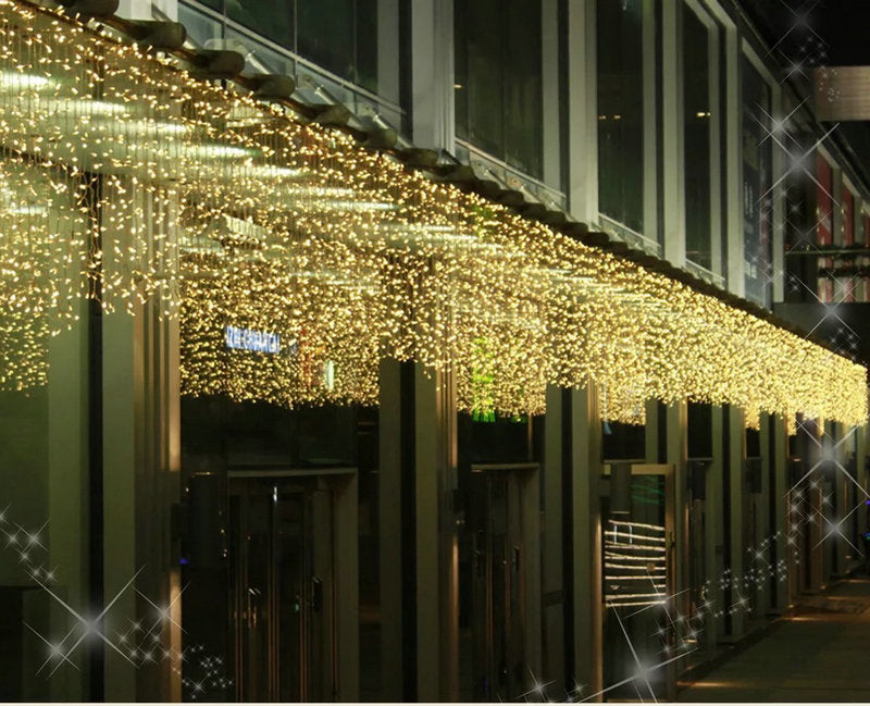 4M*0.6M LED Curtain fairy lights Warm white-Fairy Lights-1stAvenue