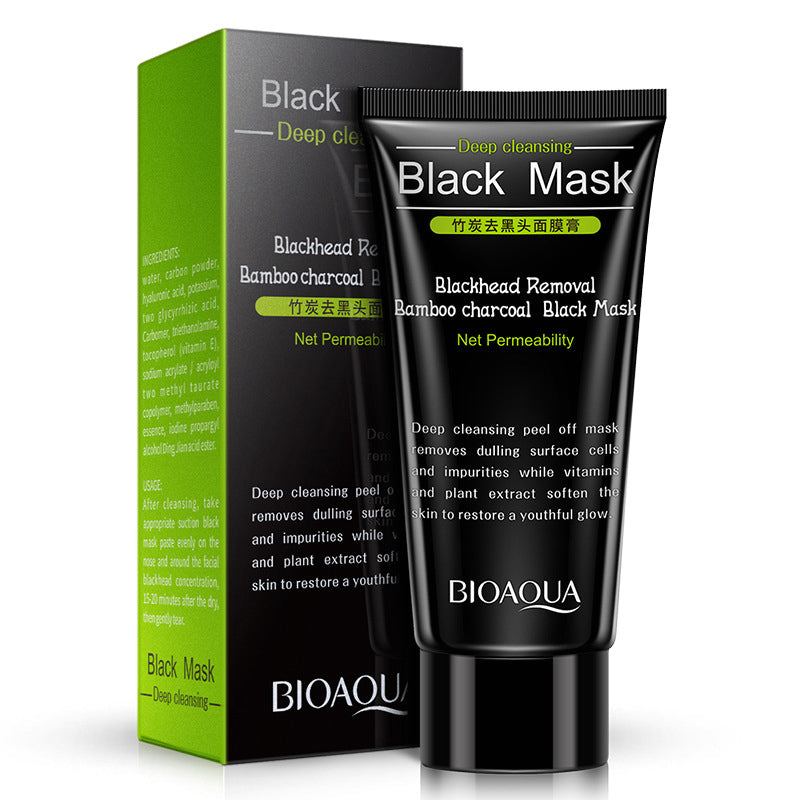 BIOAQUA Blackhead Remover Black Mask Charcoal Mask Acne Treatment Facial Mask Deep Cleansing Beauty Skin Care - 1stAvenue