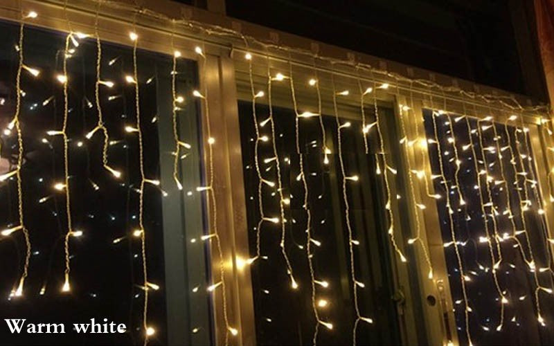 5M 96 Led Fairy Lights Curtain  Decor Outdoor (Warm White) - 1stavenue