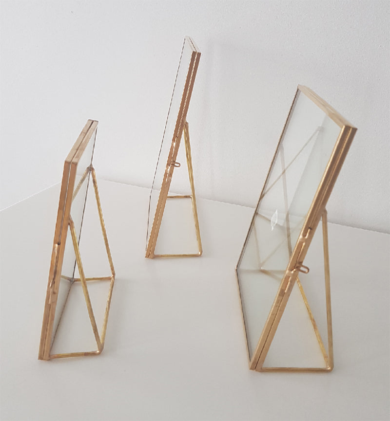 Geometric Photoframe (L Frame)-Geometric Terrarium-1stAvenue