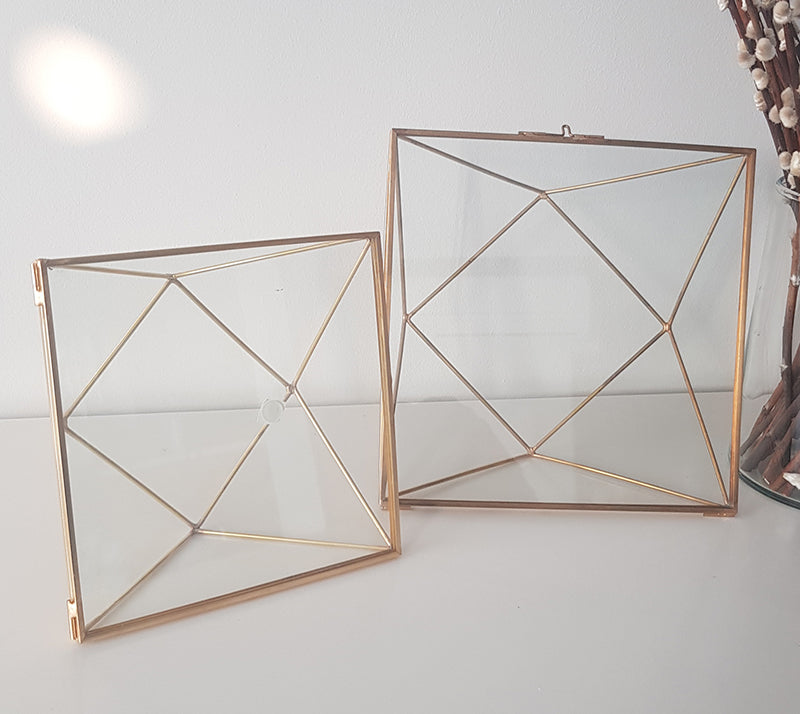 Geometric Photoframe ( Square Frame)-Geometric Terrarium-1stAvenue
