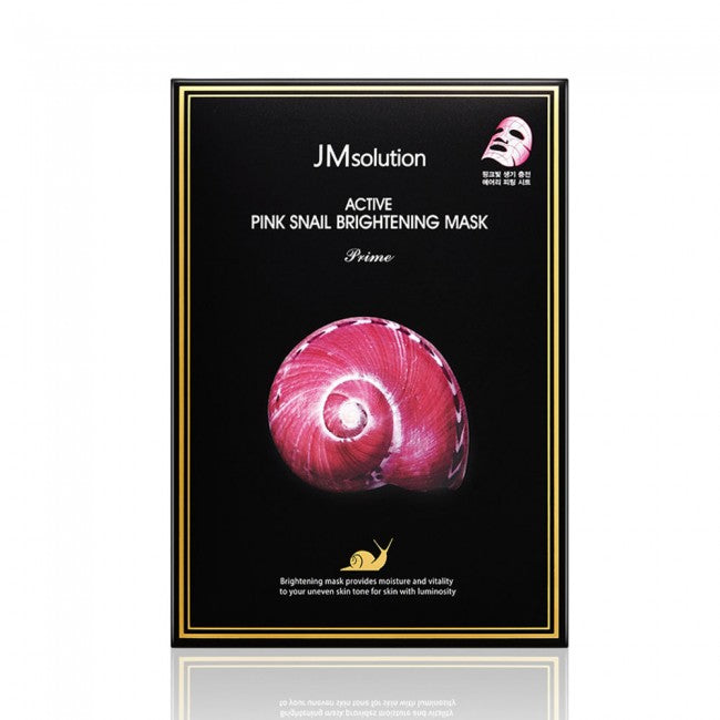 JMsolution Pink Snail Brightening Mask 30ml x 10pc Facial Mask-JMsolution-1stAvenue