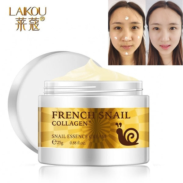 LAIKOU Snail Rejuvenating Essence Cream 25g Acne Scar Removal Cream For Face Skin Care Whitening Cream Face Cream Facial Care-Laikou-1stAvenue