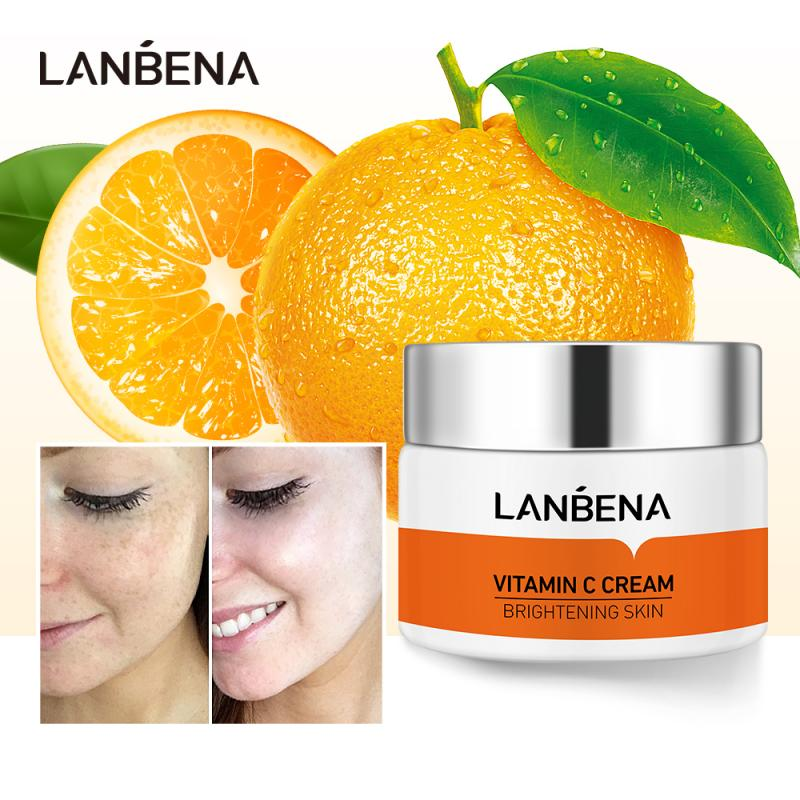 LANBENA Vitamin C Cream Brightens Skin Moisturizing Improves Dull Skin Face Anti Aging 50g-Beauty Product-1stAvenue