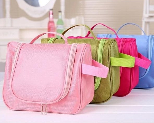 Travel Toiletry Hanging Makeup Cosmetic Beauty Wash toiletry Bag Purse Zipper Organizer-Travel Organizer-1stAvenue
