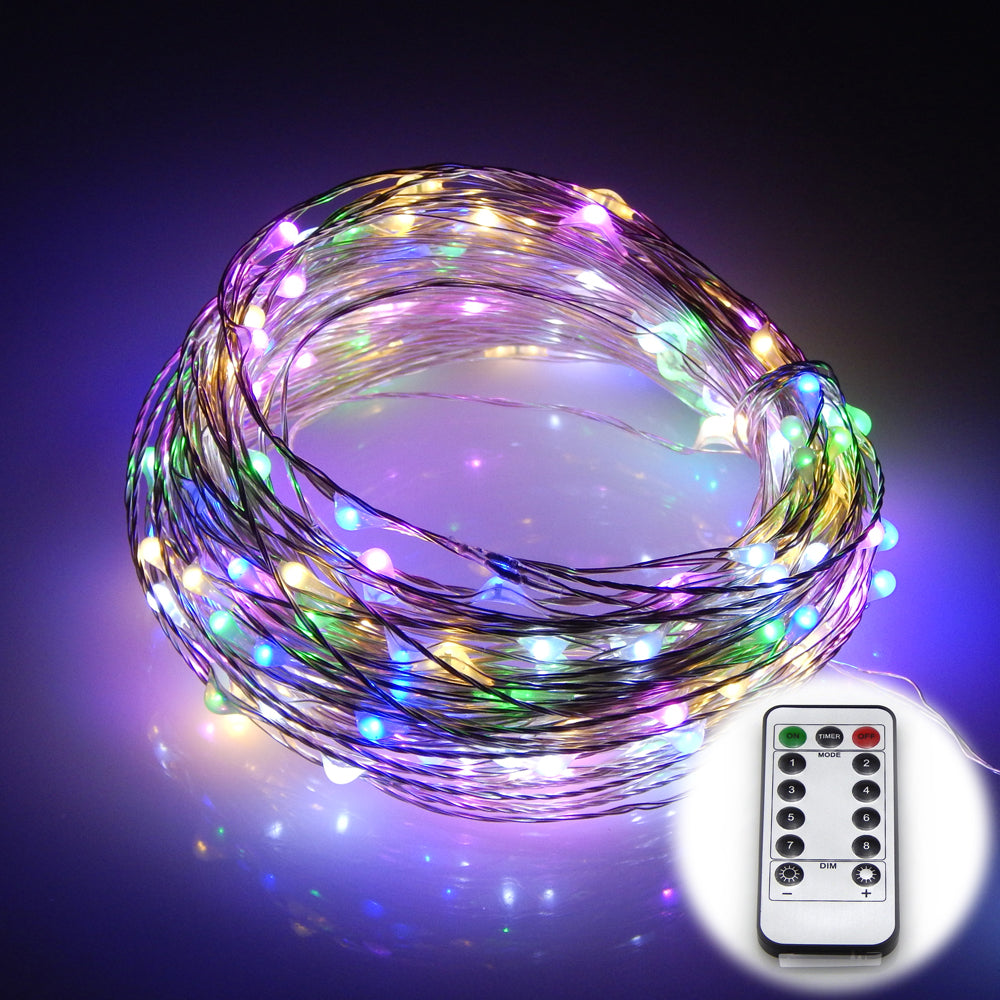 10M Silver Wire USB Rainbow lights LED String lights Waterproof Holiday LED Strip lighting-Fairy Lights-1stAvenue