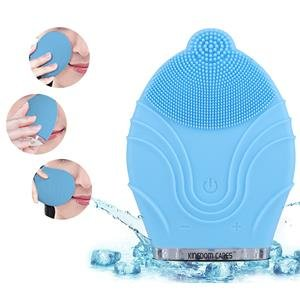 KINGDOM Handy Mini Facial Cleansing Brush Sonic System Electric Rechargeable Waterproof Facial Brush Massager - 1stavenue