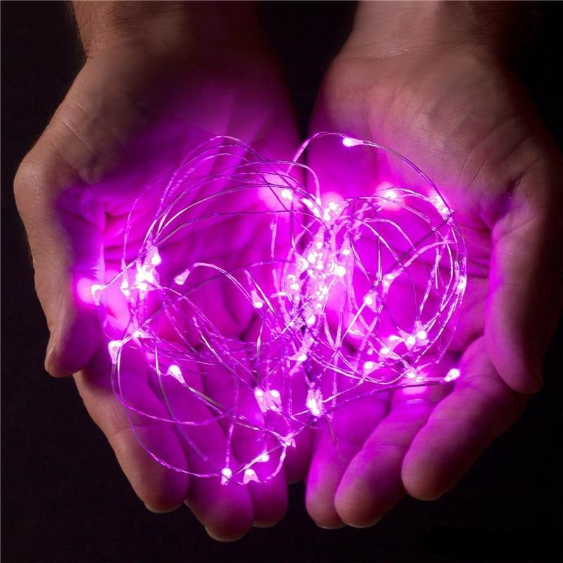 10m Silver Plug Purple LED string lights Christmas fairy lights wedding decorations-Fairy Lights-1stAvenue