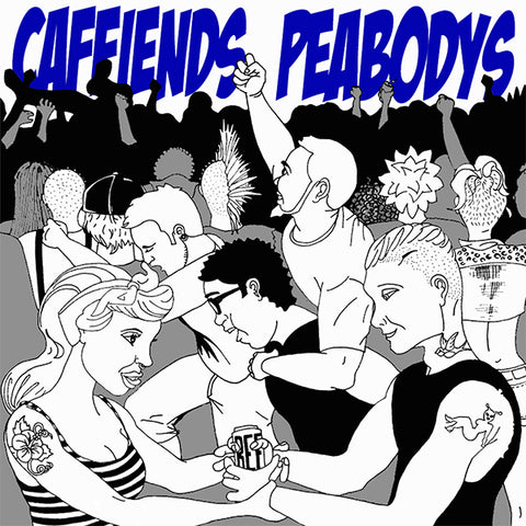Caffiends / Peabodys - Split (LP)