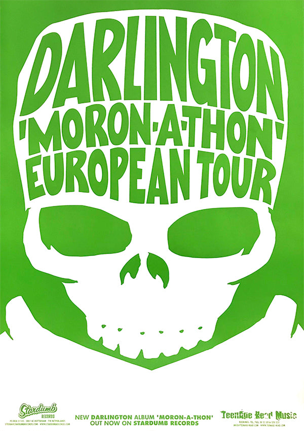 Darlington - 'Moron-A-Thon' European Tour 2003 (Poster)