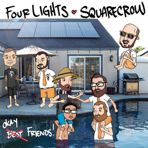 "Four Lights / Squarecrow ‎- Okay Friends! (7"")"