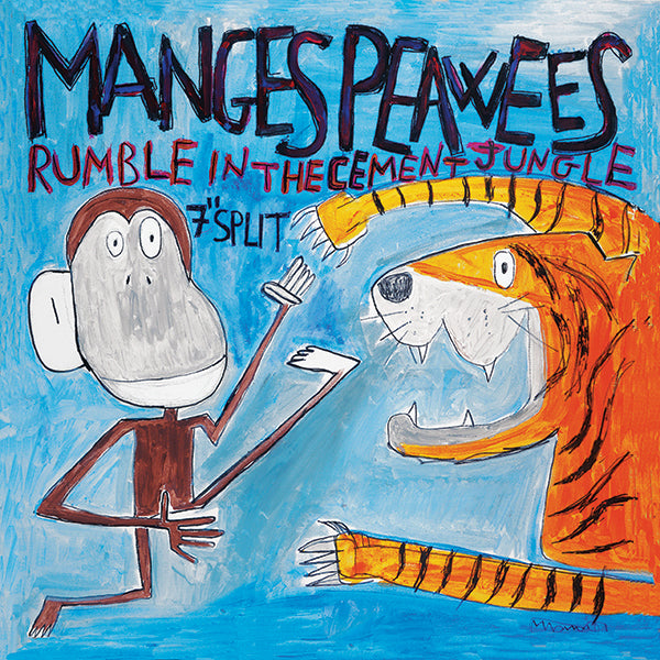 "Manges / Peawees ‎- Rumble In The Cement Jungle (7"")"