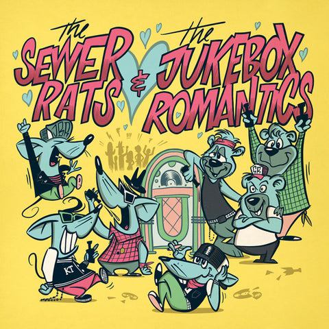 "Sewer Rats / The Jukebox Romantics - Split (7"")"