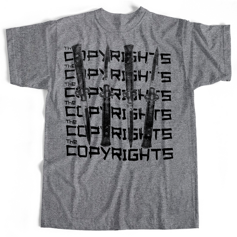 Copyrights - Knives (T-Shirt, Gray, Ladies S only)