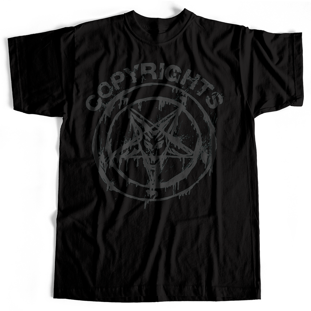 Copyrights - Pentagram (T-Shirt, Black, S, M & various Ladies sizes only)