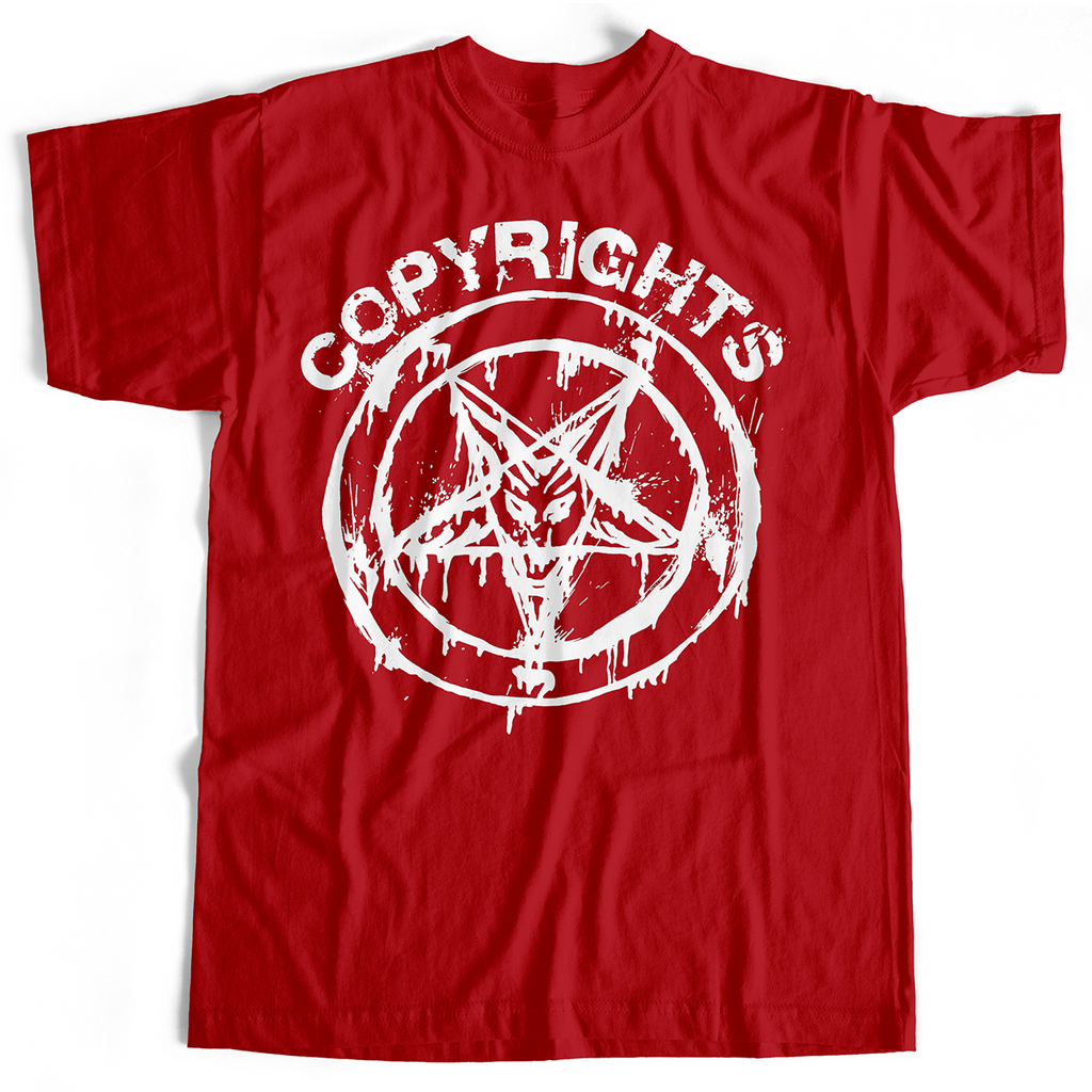 Copyrights - Pentagram (T-Shirt, Red, M & various Ladies sizes only)
