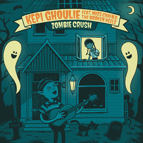 "Kepi Ghoulie feat. Miss Chain & The Broken Heels - Zombie Crush (7"")"