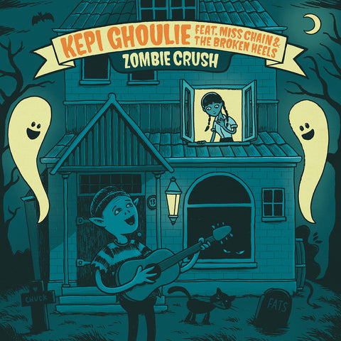 "Kepi Ghoulie feat. Miss Chain & The Broken Heels - Zombie Crush (7"") (PRE-ORDER)"
