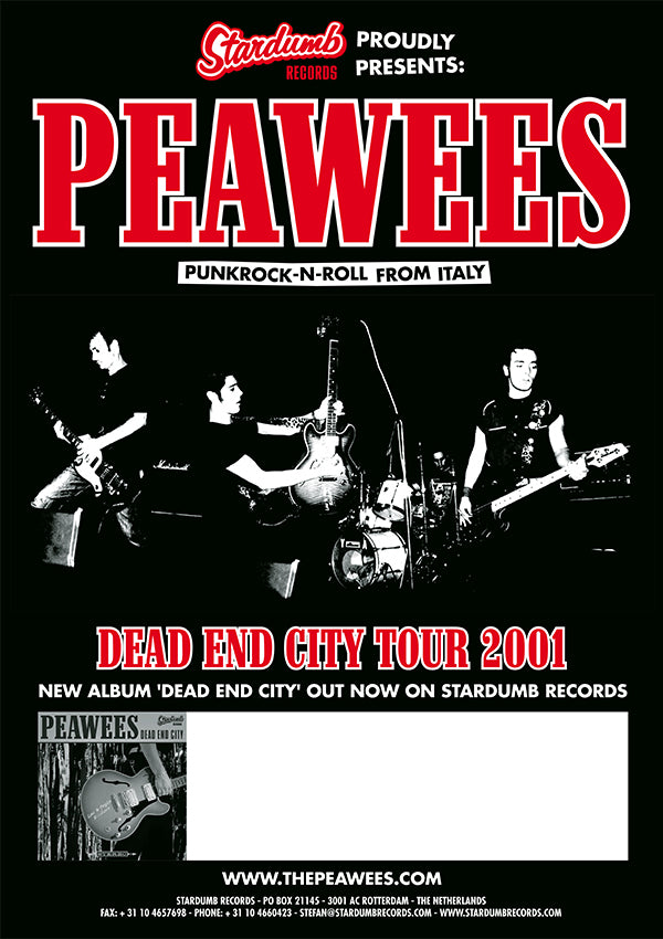 Peawees - Dead End City Tour 2001 (Poster)
