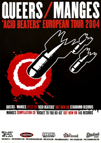 Queers / Manges - 'Acid Beaters' European Tour 2004 (Poster)