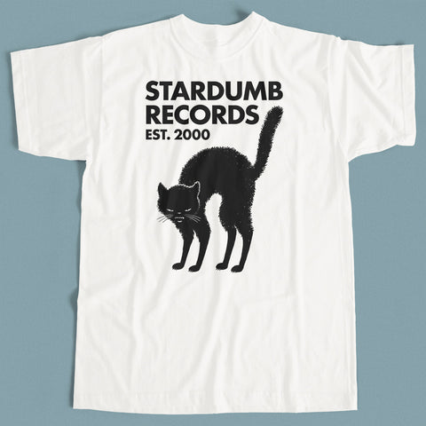 Stardumb Records - Black Cat (White T-shirt)