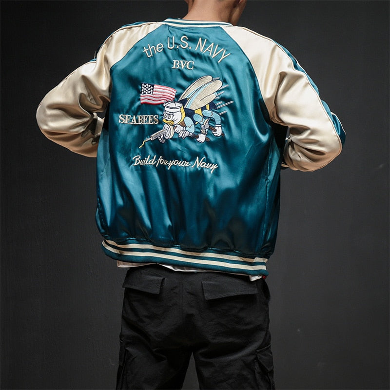 Two-Sides Smooth Bomber Jacket