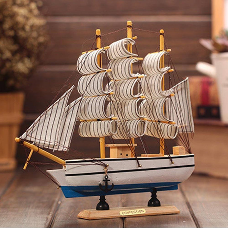 White Wooden Sailing Boat™