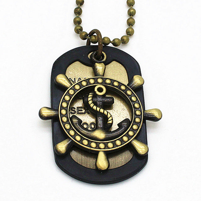 Anchor Dog Tag