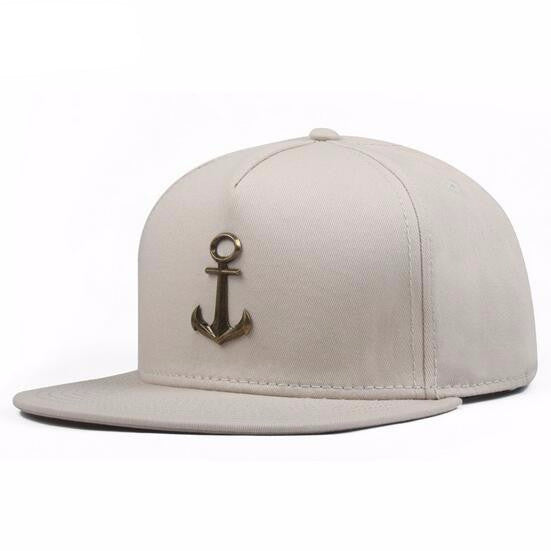 Metal Anchor Baseball Cap - White - Limited Edition