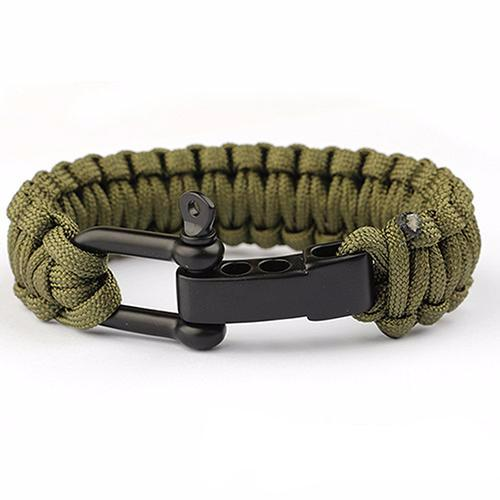 Jet Black Seaman's Shackle - Army Green