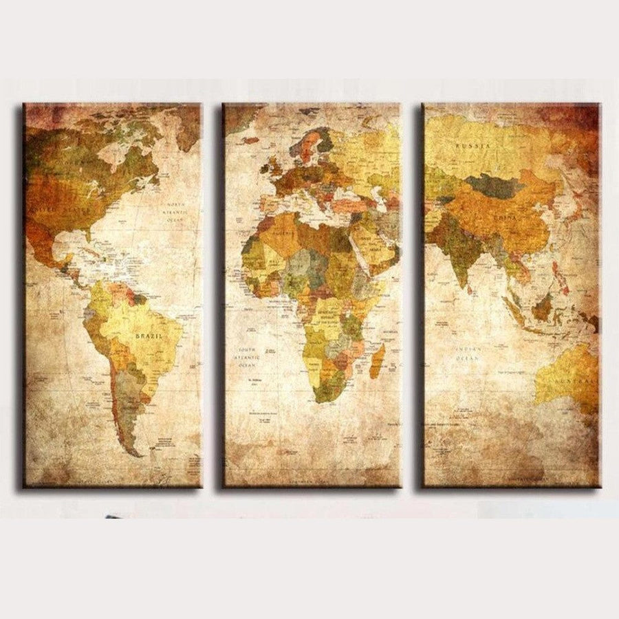 The Globe Canvas Vintage