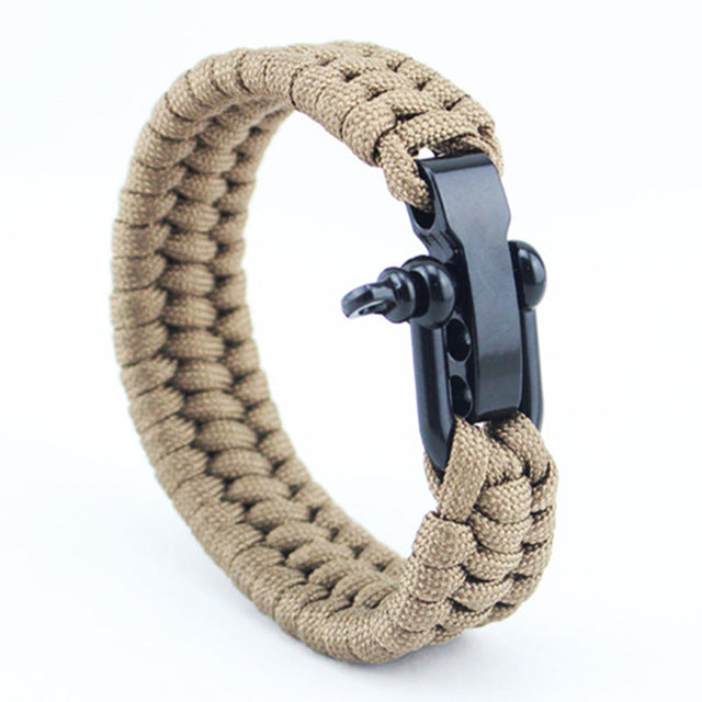 Jet Black Seaman's Shackle - Khaki