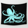 Light Blue Octopus Tapestry