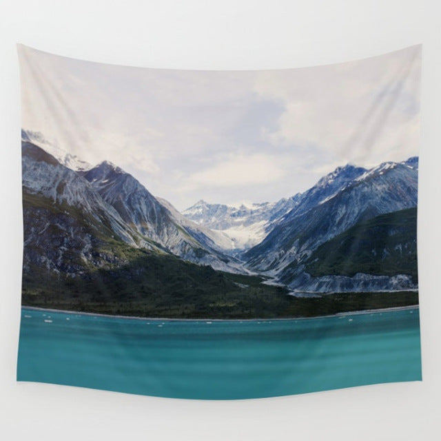 Green-Blue Beach Tapestry