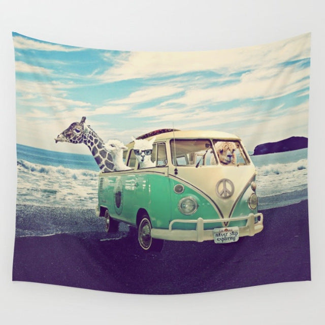 Giraffe Car Tapestry