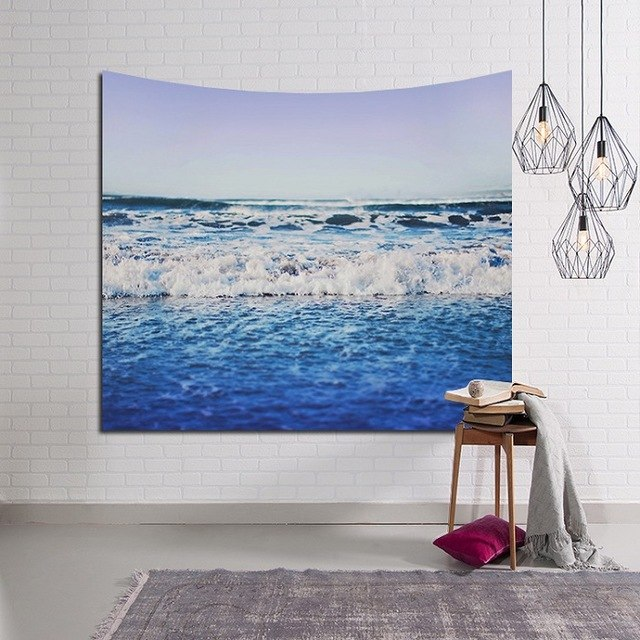 Blue Beach Tapestry