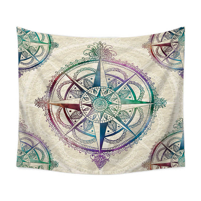 Gradient Compass Wall Tapestry