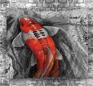 Red Fish Tapestry